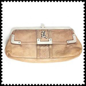 L.A.M.B. Tan Clutch Purse Handbag